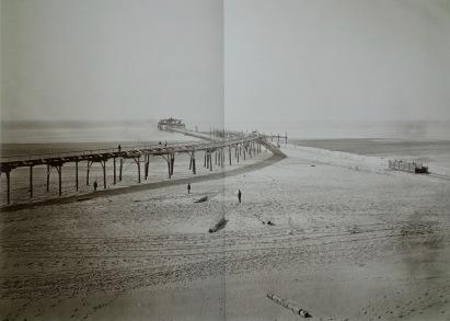 Bouw van het noordelijke havenhoofd, 1868