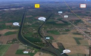 Splitsing Kempenkanaal/Zuid-Willemsvaart bij Bocholt